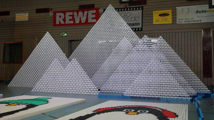 Tallest Domino 2D Pyramid