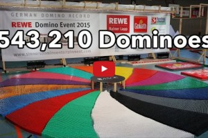 What Does It Look Like When a Half Million Dominoes Fall? Watch and See!